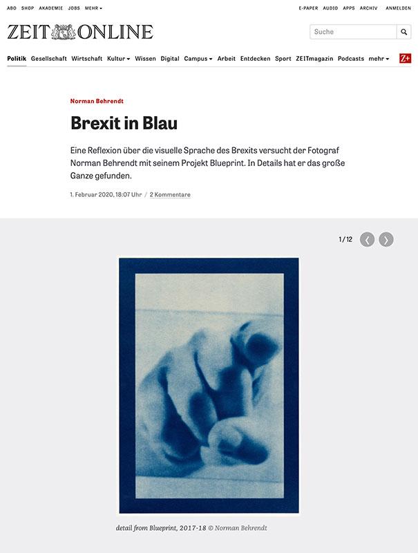 Blueprint at ZEIT Online